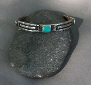 Signed Old Style Jock Favour Coin Silver Cuff Bracelet Small Wrist