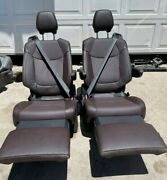Toyota Sienna 2021 Recliners Bucket Seats Brown Leather 2 Pcs Set-new