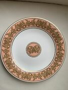 Villeroy And Boch Baroque Salmon Pink Gold Collection Dinner Plates 10 1/4 Set 6