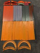 Vintage 1970and039s Mattel Lot Of Hot Wheels 24 Track - Curves - Connectors + More
