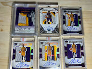 Julius Randle Preferred 6 Card Lot Rpa Rc Rookie 3-col Patch Auto Invester Lot🔥