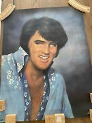 Boxcar Elvis Poster 22x28 Inch 1977 Signed To Lisa Signed At Concert Original