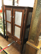 """Vintage """"reproduction"""" Of 1800's Antique Pine Pie Safe With 8 Punched Tin Panels"""
