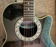 Ovation 386t Pinnacle Electric Acoustic Guitar Circa 1990and039s Made In Japan Mint