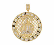 10k Or 14k Gold Huge Our Lady Of Charity Gorgeous Large Round Pendant [video]