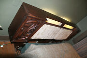 Witco Oceanic Mcm Lighted Queen Headboard With Storage Rare 1960's Tiki Chic
