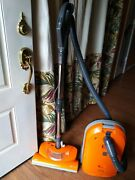 Kenmore 293192 Hepa Media Filter Orange Canister Vacuum Cleaner + Attachments