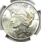 1934-s Peace Silver Dollar 1 Coin - Certified Ngc Uncirculated Details Unc Ms