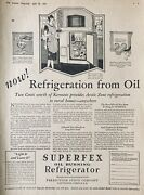 1928 Ad.xg24perfection Stove Co. Superfex Oil Burning Refrigerator