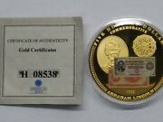 American Mint 24k Gold Layered Proof 1922 500 Lincoln Commemorative Coin
