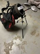 U.s. Kids Golf Bag Red With 3 Lh Clubs