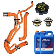 Ppe Orange Radiator Hose/thermostat/acdelco Coolant And Cap For 11-16 6.6l Duramax