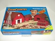 Ertl Farm Country Round Gable Barn Set 1997 164 Playset 76 Pieces Complete Rare