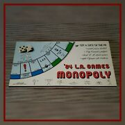 Vintage 84 L.a. Games Monopoly Game Board. Complete With All Pieces