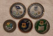 United States Oregon Air National Guard Military Challenge Coin Lot Of 5