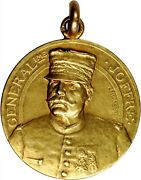 G057 Rare France. Homage To General Joffre Gold Medal Nd Ca. 1925. Choice Unc