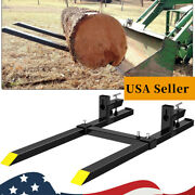 4000lbs Pallet Forks Clamp On 60 For Loader Tractor Bucket Forks Heavy Duty