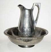 20 Off German Secession Pitcher And Basin And039silver Hallmarkand039 17 X 6 18 X 8