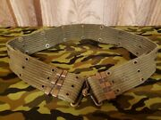 [rare Item] 60and039vintage M1956 Horizontal Weave Early Type Pistol Belt 1111