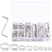 120pcs Stainless Steel Worm Gear Hose Clamps Duct Clamp Adjustable Hose Clamp W1