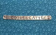 Coors And Cattle Hand Stamped Metal Aluminum Wrap Ring Western Rodeo Impresssart