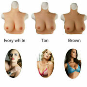 Silicone Cotton Filler Breast Plate Fake Plump Boobs For Crossdresser Cosplay Us