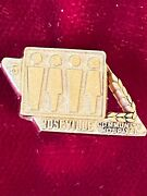 Roseville Community Hospital 5 Year Service Embossed Gold Tone Tie Lapel Pin