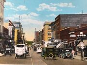 Vintage Postcard Central Ave Looking West Fort Dodge, Iowa, Ia Antique Cars