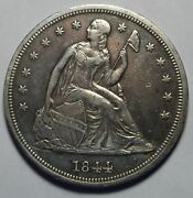 1844 Seated Silver Dollar Zb69