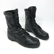 Vtg Ro Search Mens Black Wellco Mid Calf Military Combat Boots Size 10 W Ns 4-97