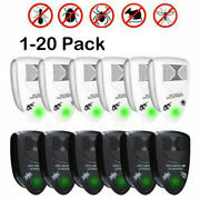 Lot Home Ultrasonic Pest Repeller Reject Mice Insect Mosquito Cockroach Killer