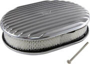 Eckler's Chevy Air Cleaner, Oval Full Finned Polished Aluminum, 12 57-315676-1