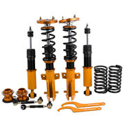 4x Coilovers For Ford Mustang 05-14 Adjustable Height And Mounts Suspension Spring