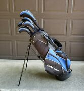 Tight Lies Golf Bag Set D,3, 3h,4h,5 And 5 Clubs Graphalloy Cover Tl1014