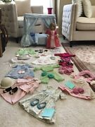 American Girl Doll Retired Elizabeth With Bed And Accessories