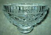 Waterford Cut Crystal Footed Bowl, Killeen Pattern, 5 3/4 Size, Fruit / Dessert