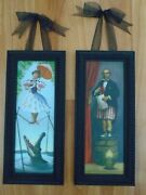 Disney's Haunted Mansion Stretching Room Portraits, Set Of 2, Giclee