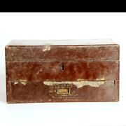 Wooden Fine 2 Compartment Floral Work Medicine Collectible Box 10990
