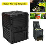 Eco Compost Bin Aerated Food Waste Kitchen Garden Recycling Composter Outdoor Us