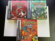 Pokemon Fire Red / Ruby / Emerald   Complete Set With Manuals Boxed 3x Games
