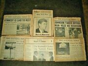 Vintage John F. Kennedy Assassination 1963 - Lot Of Five 5 Local Newspapers