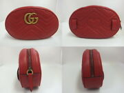 Bag Gg Marmont Waist Pouch Shoulder 491294 Red Razor Women And039s Secon _90395
