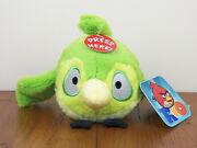 Rio 5 Green Caged Bird Angry Birds Plush Stuffed Animal Doll With Sound New