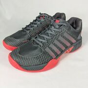 Womenand039s K-swiss Express Light Carbon Gray Graphite Pink Pickleball Shoes Size 7