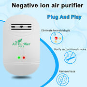 Air Purifier Portable Negative Ionizer Home Air Cleaner No Noise Purify Smoke Us