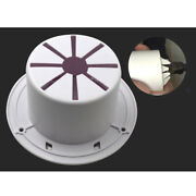 White Round Electric Cable Hatch With Back For Rv Boat 30 And 50 Amp Cords