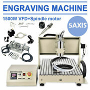 Usb 1.5kw 5axis Engraving Machine 6040 Cnc Router Drill 3d Carver W/remote 1500w