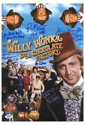 Willy Wonka Cast-signed 12 X 17 Photo With Psa/dna