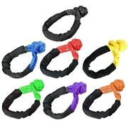 1 X Soft Shackle Rope Synthetic Tow Recovery Strap Rope Unloading Soft Shackle