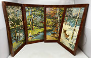 Vintage Framed Set Of 4 Paint By Number Four Seasons Pictures Craft Master